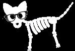 chien squelette blanc_lunettes
